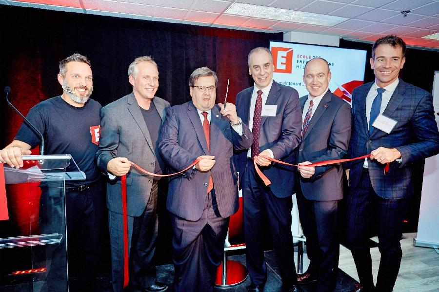 Inauguration de l'École des entrepreneurs Mtl